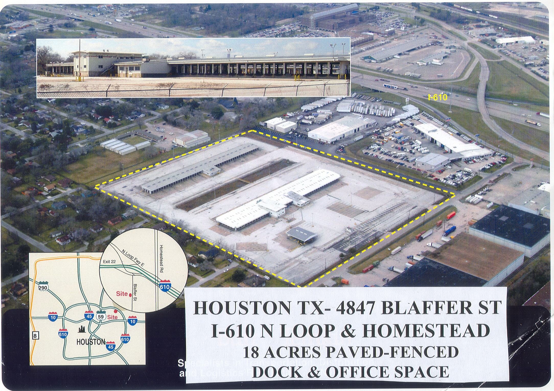 Houston Secure Truck Parking | I-610 North Loop and Homestead